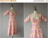 50% OFF CLEARANCE... 1980s does 1950s Dress | 80s does 50s Sundress | Printed Day Dress