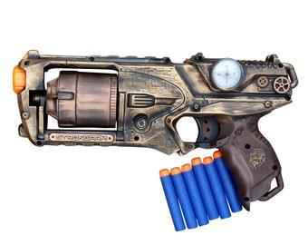 Steampunk STRONGARM toy Gun  Zombie walking man Nerf soft dart Vampire Victorian cosplay Limited
