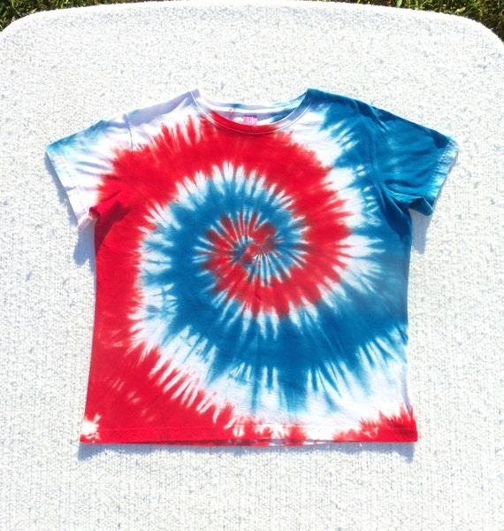 Woman 39 S Tie Dye T Shirt Xl Red White Blue