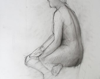 Gesture Drawing - original drawing  (FD 93)