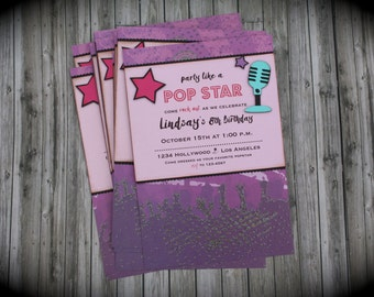 Party like a POP STAR Invitation