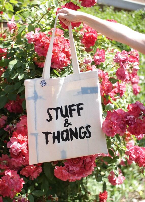Stuff & Thangs Tote Bag - Tie-Dye