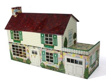 Vintage 1950's Marx Litho Tin Walt Disney Dollhouse