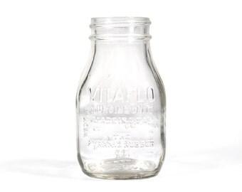 Vintage Vitaflo Nursing Glass Bottle