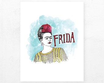 Frida Kahlo | Illustrated Print