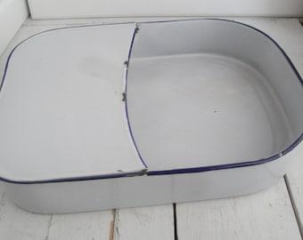 Vintage Enamel Bed Pan