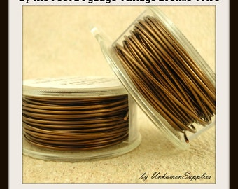 By the Foot 24 gauge Vintage Bronze Wire- Enameled Coated Copper -  100% Guarantee