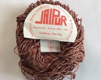 Jaipur #28 Brown Twist & Slub Yarn -Cotton Viscose 50gr 77yds Naturgarne Marker