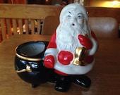 Vintage Ceramic Santa Claus Planter Candy Container