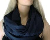 Dark Navy jersey infinity scarf Nomad Cowl-Darkest navy