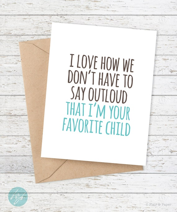 Funny father 39 s day card mother 39 s day card dad by flairandpaper for Sweet things to say to your grandma