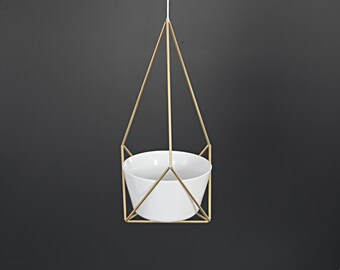 LOTUS - Geometric Modern Hanging Planter - Himmeli