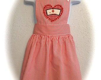 Little Nurse apron / child  size 6-10