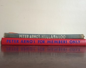 Peter Arno Hardcover Books. Hullabaloo and For Members Only.