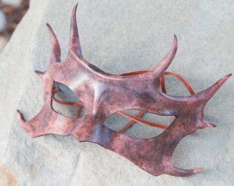 Horned Leather mask