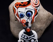 RESERVED for *C.G*         Face to Face - Freak heads* - Modern Glass Art - Unique, Statement focal Bead - by Michou P. Anderson