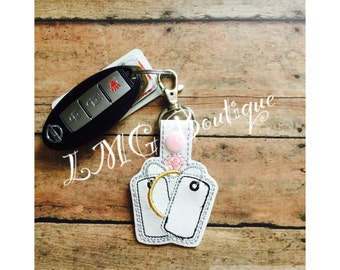 Military Wife Keychain, Military Wife Key Fob, Spouse Appreciation, Army, Air Force, Marine Corps, Navy, Dog Tags and Ring,