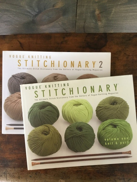 Vogue Knitting Stitch Dictionary : Vogue Knitting Stitchionary Volume One Knit & by TALKINGROCKBOOKS