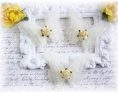 Shabby Vellum Butterfly Embellishments for Scrapbooking, Cardmaking, Altered Art, Tag Art, Mini Album, Pale Yellow