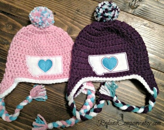 Montana Love Earflap Hat - Many Sizes Available- Made in Montana