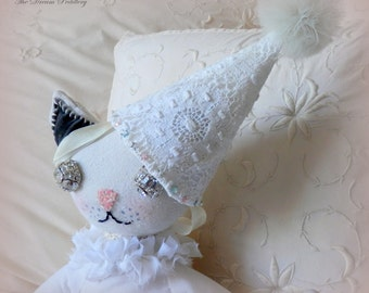 Starlight Kitty Doll. Hand Crafted Cloth Doll