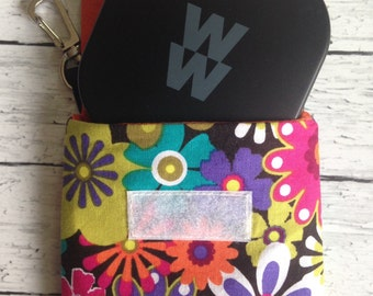Weight Watchers SmartPoints Calculator small pouch ~ Custom Made ~ Pouch Purse Holder w/Swivel Hook ~ Velcro or Magnetic Snap ~ 48 Fabrics.
