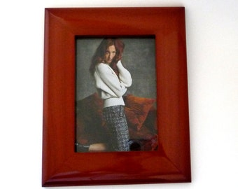Frame - Wood - Preppy - Traditional - Minimalist - Desk Frame - Philip Whitney Ltd - Gift - Wedding - Office - Boudoir - Cinnamon Color