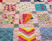 """Reserved for Holly W H - Onesie Quilt, Baby Quilt - Baby Size 42"""" x 49"""" (30 Clothing Items) - BALANCE LISTING (50%) + Embroidery"""