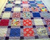 """Reserved for hshuang - Onesie Quilt, Memory Quilt - Baby Size 42"""" x 49"""" (30 Clothing Items) - BALANCE LISTING (50%) - Remnant Quilt"""