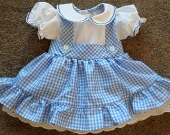 Dorothy  of Oz Inspired Dress size 6 Months