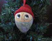 Santa's Helper Gourd Ornament