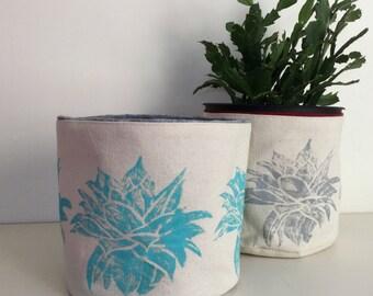 Storage Bin - Plant Holder - Soft Storage - Storage Basket - Aloe Vera - Succulents