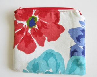 Zipper Pouch, Clutch Purse, Cosmetic Bag, Padded Pouch with Lining