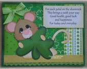 St. Patrick's Day Card Handmade Paper Piecing 3D Greeting Card