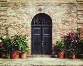 New Orleans Door Photography, Black Door Print, French Quarter Art, Living Room Wall Art, Louisiana Home Decor, 8x10, 11x14, 16x20, 20x24+