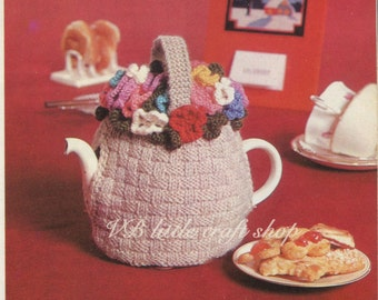 Tea cosy knitting pattern. Instant PDF download!