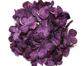Full Hydrangea Head in Purple - Artificial Flowers, Silk Flower Blossoms - PRE-ORDER