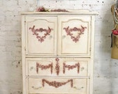 Painted Cottage Chic Shabby French Dresser/ Chest CH883