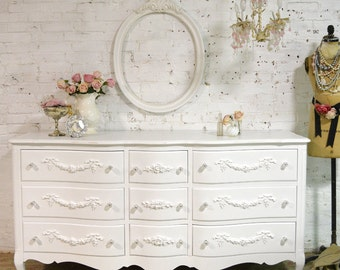 Painted Cottage Chic Shabby French Dresser DR856