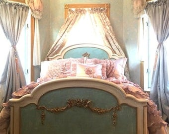 Painted Cottage Romantic French Bed BD745
