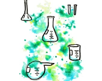 minimalist ink print: Science Project