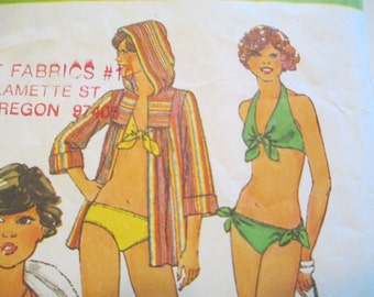 Simplicity 8028, Bathing Suit Pattern, Size 14, 1977