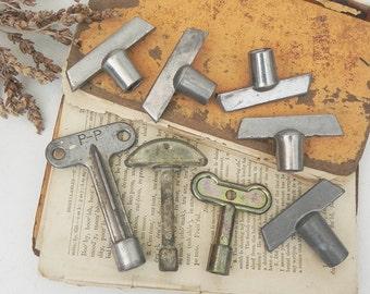 8 salvaged vintage utility keys Vintage Hardware DIY Repurpose