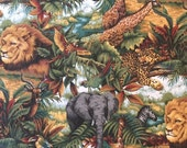 SPECIAL Jungle  fabric 2 yards plus in 2 pieces