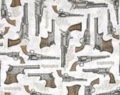 Quilting Treasures Classic Remington Guns Grey 1649-24061-K