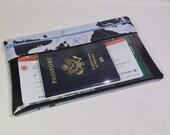 Travel Wallet - Long Travel Wallet - Passport Wallet - Travel Documents Organizer - Clear View Wallet - Zipper Travel Wallet -Mens Wallet