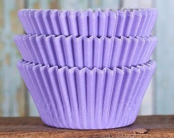 Light Purple Cupcake Liners, BakeBright Cupcake Liners, Pastel Purple Baking Cups, Cupcake Cases, Wedding Cupcake Wrappers (50)