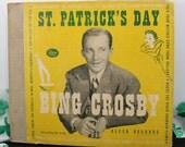 """78RPM //10"""" // Bing Crosby // St. Patrick's Day // 5 Album Record Set // Decca A-495"""