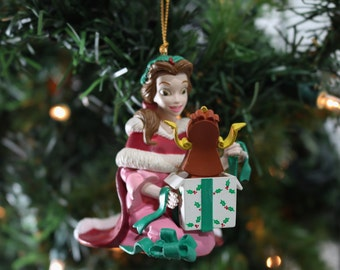 Belle, Beauty and the Beast Grolier Disney Christmas Ornament With Box