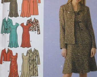 Dress and Jacket Sewing Pattern UNCUT Simplicity 4014 Plus Size 20W-28W